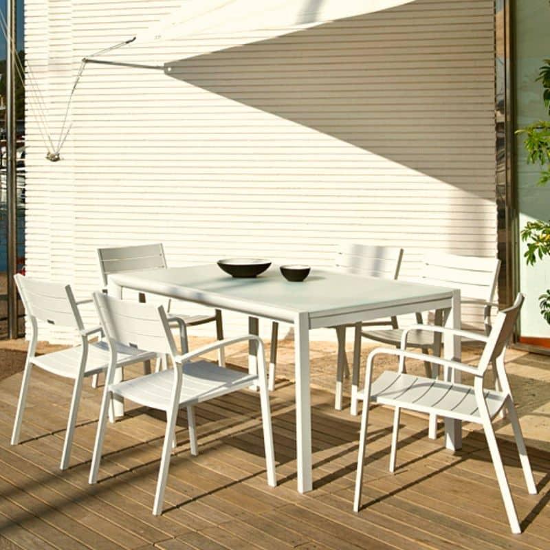 muebles de aluminio para jardin
